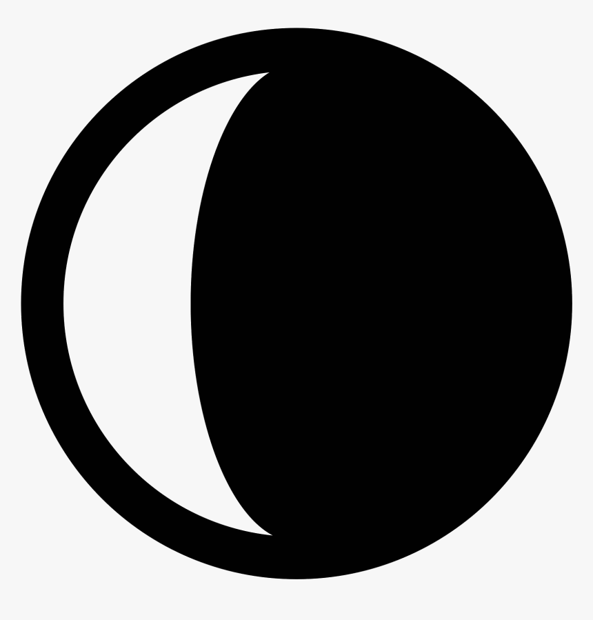 Half Moon Emoji Png - Waning Crescent Moon Icon, Transparent Png, Free Download