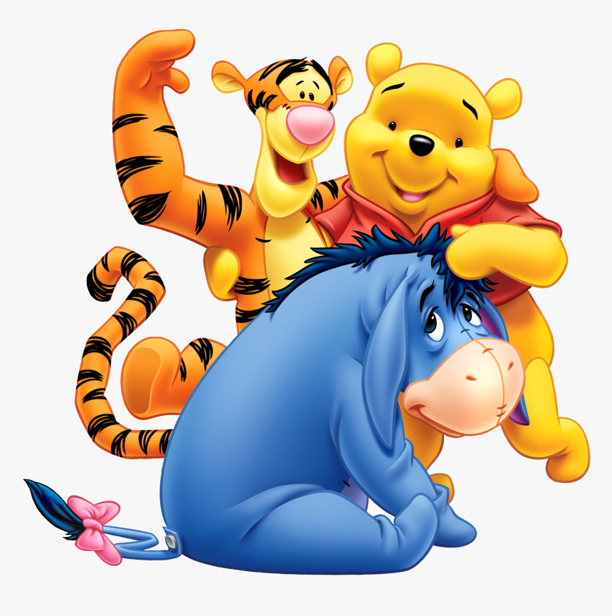 Winnie The Pooh Eeyore And Tiger, HD Png Download, Free Download