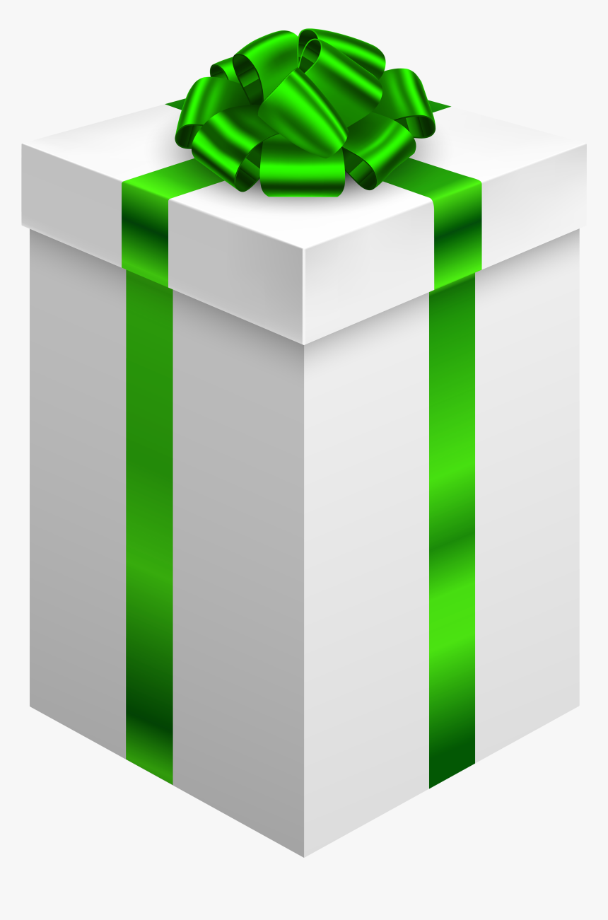 Gift Box With Green Bow Png Clipart - Gift Box Png Transparent, Png Download, Free Download