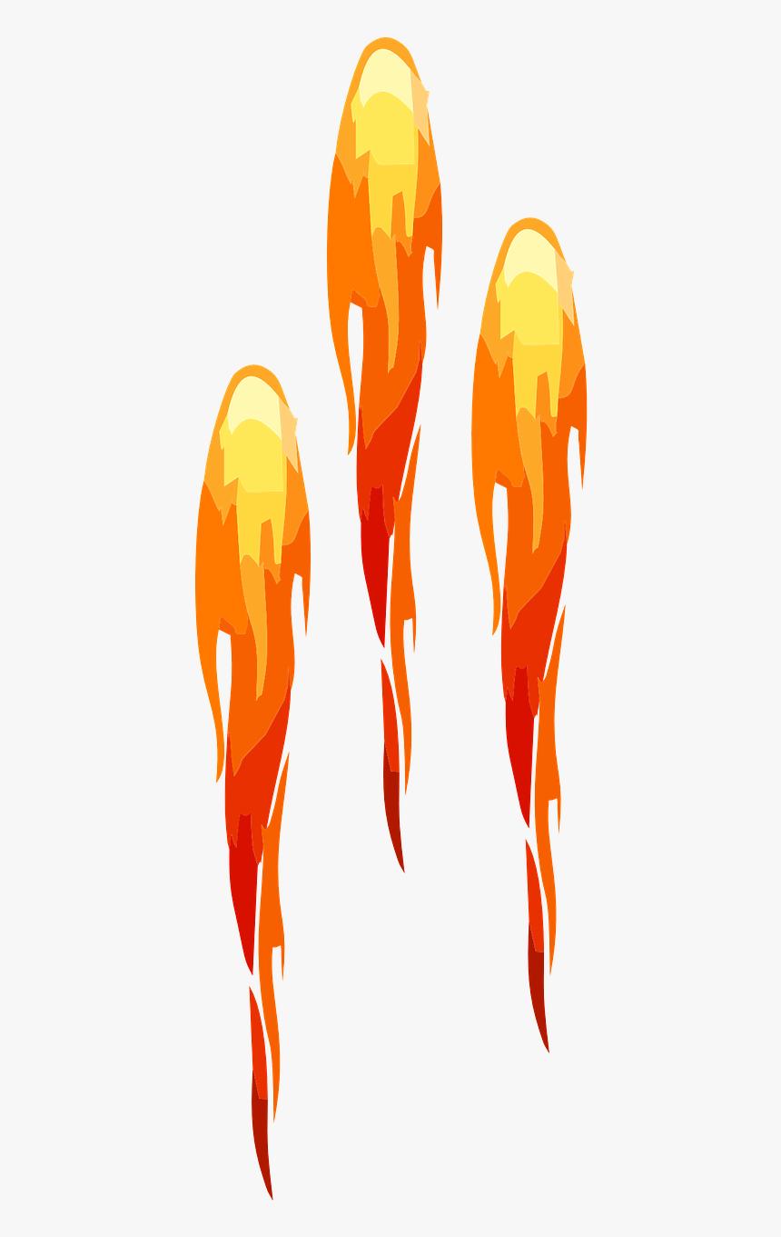 Rocket Clipart Rocket Fire - Rocket Flames Clipart, HD Png Download, Free Download