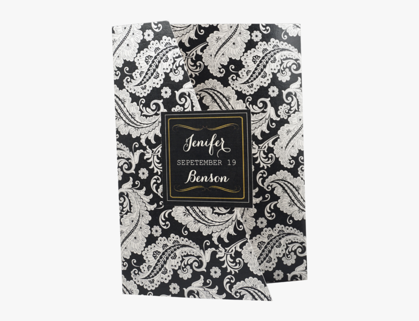Floral Chalkboard Black And White Wedding Invitation - Wedding Invitations, HD Png Download, Free Download
