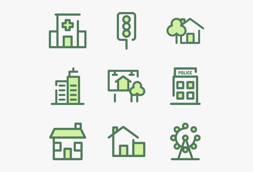 City - Green City Icon Png, Transparent Png, Free Download