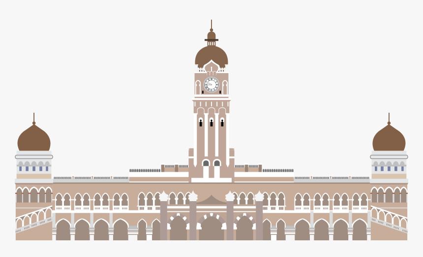 Sultan Abdul Samad Building, Kuala Lumpur Clip Arts - Bangunan Sultan Abdul Samad Vector, HD Png Download, Free Download