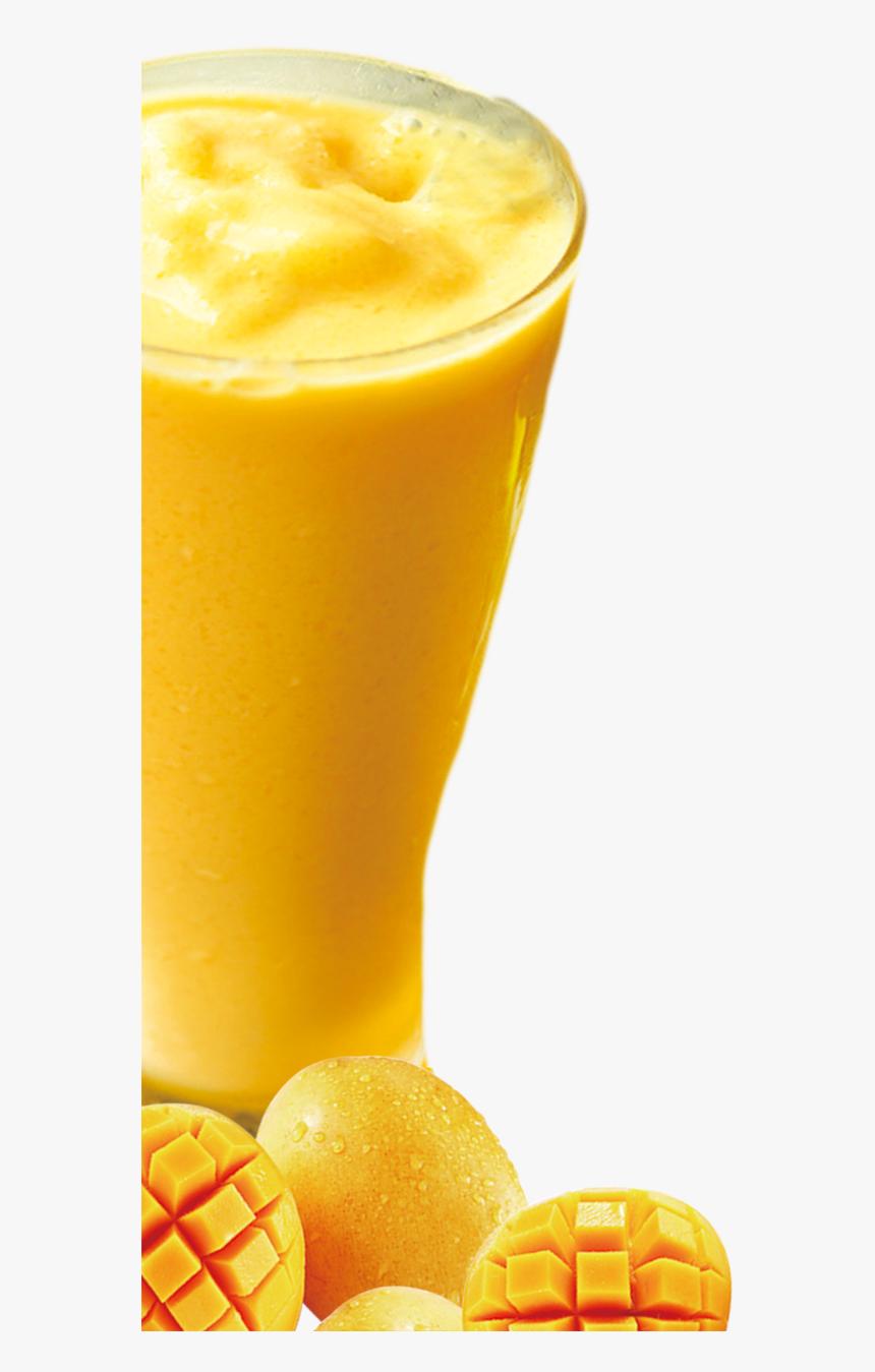 Orange Juice Milkshake Smoothie Cocktail - Mango Juice Glass Png, Transparent Png, Free Download