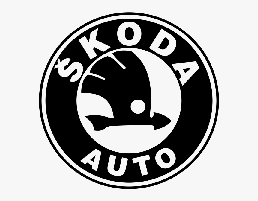 Skoda Logo Png - Skoda Auto Black Logo, Transparent Png - kindpng