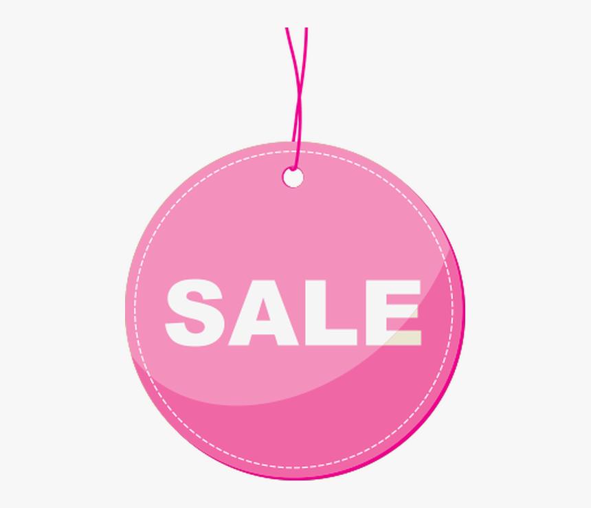 Sale Pink Hang Tag - Circle, HD Png Download, Free Download