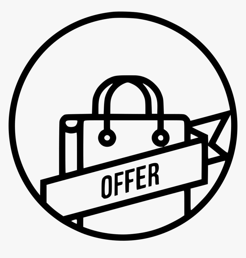 Offer Ribbon Carry Bag Cart Online Tag Label - Offer Icon Png, Transparent Png, Free Download