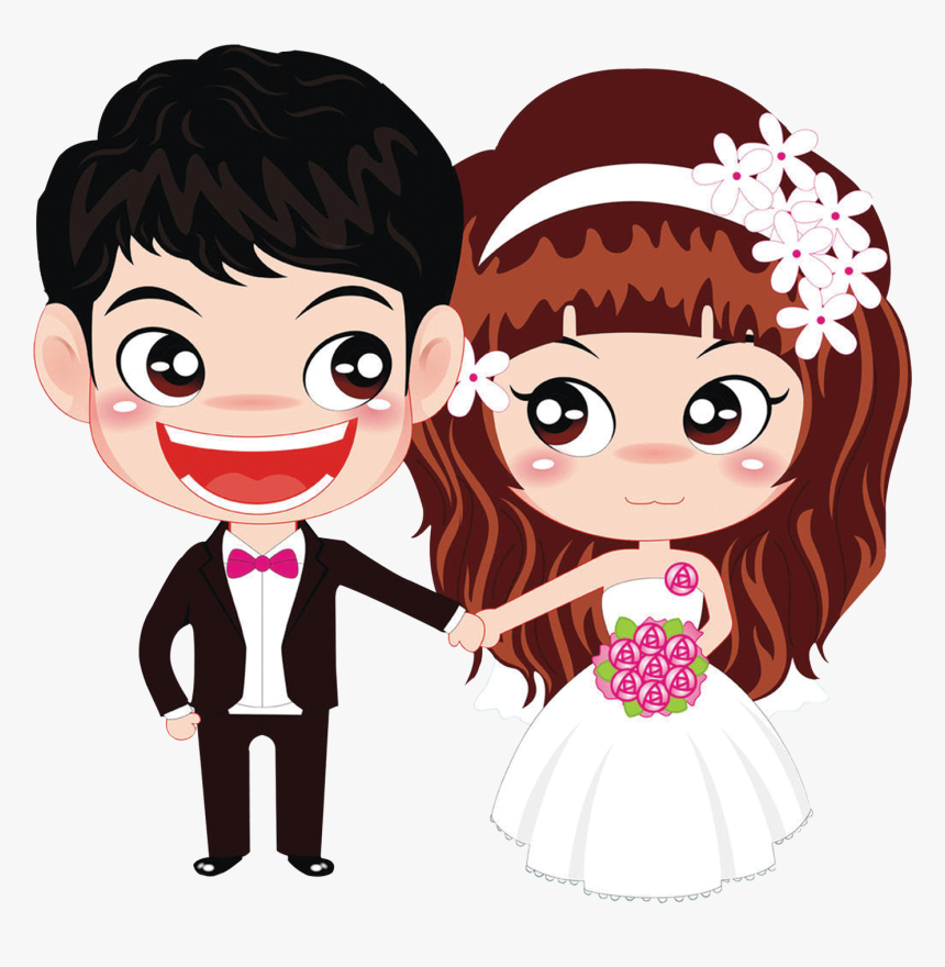 Transparent Indian Bride And Groom Clipart Wedding Couple Cartoon Png Png Download Kindpng