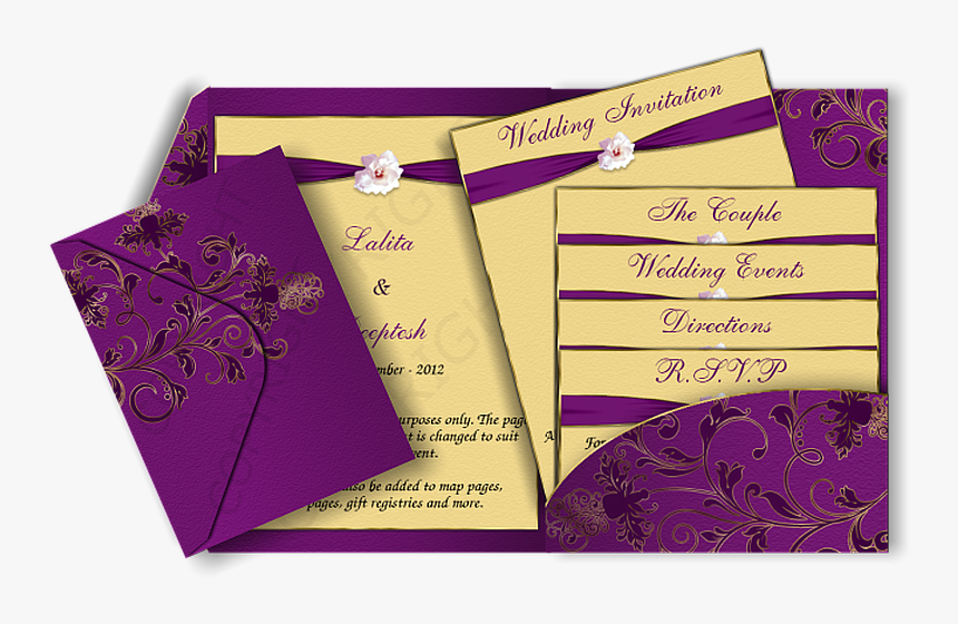 Modern Elegant Wedding Invitations Cards Indian Marriage