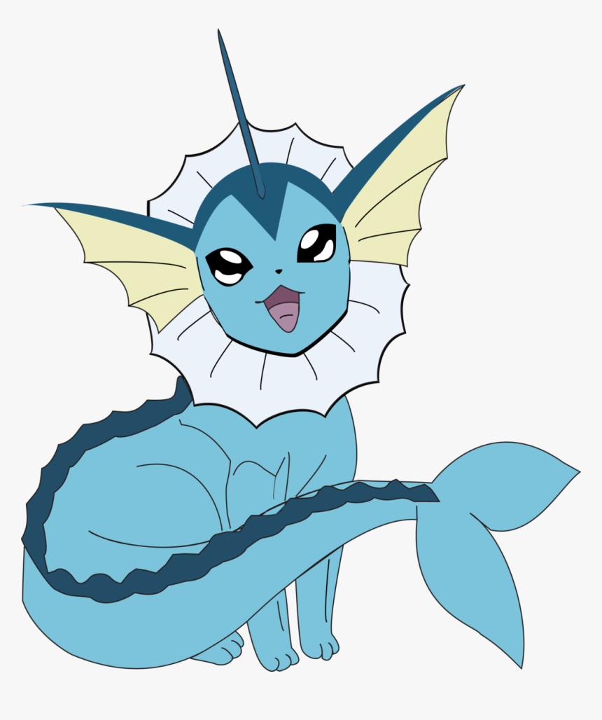 Vector Transparent Library Vaporeon Illustrator Drawing - Vaporeon Pokemon Eevee Evolutions, HD Png Download, Free Download