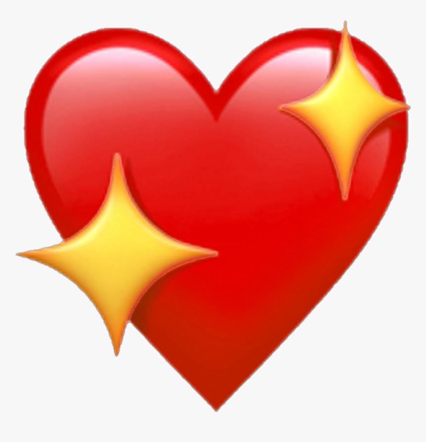 Red Heart Emoji Png - Transparent Background Iphone Heart Emoji, Png Download, Free Download