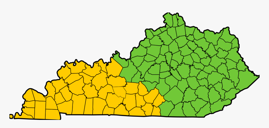 Map Of Kentucky Counties - Taylor County Kentucky, HD Png Download, Free Download