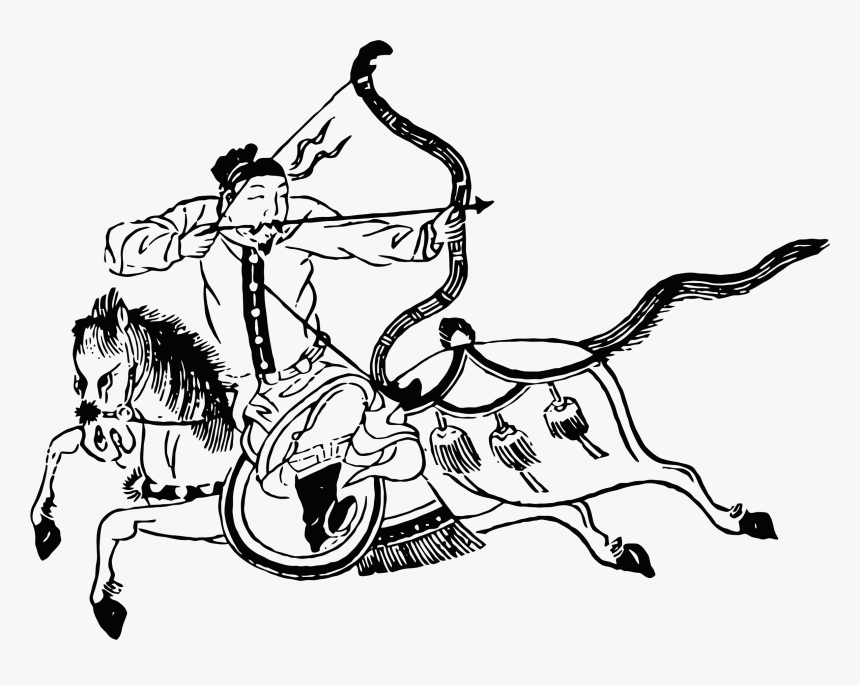 Chinese Mounted Archer Clip Arts, HD Png Download, Free Download