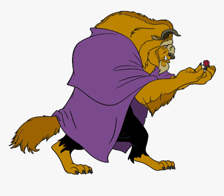 Free Png Download Beauty And The Beast Holding Rose, Transparent Png, Free Download