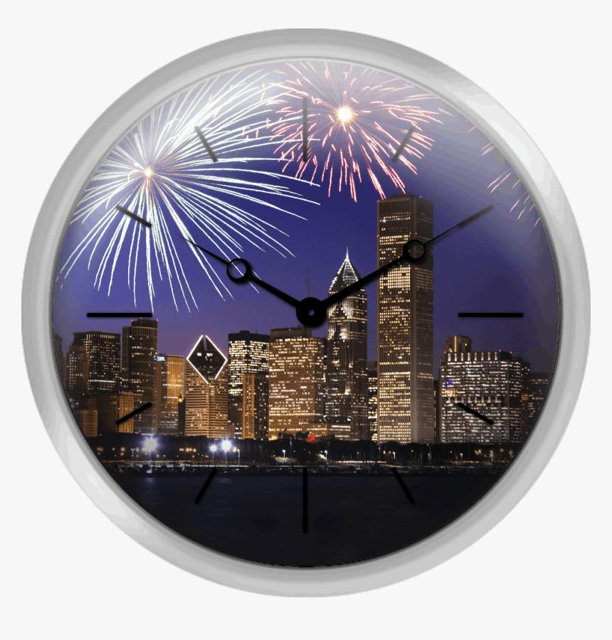 Fireworks Over Chicago Skyline, HD Png Download, Free Download