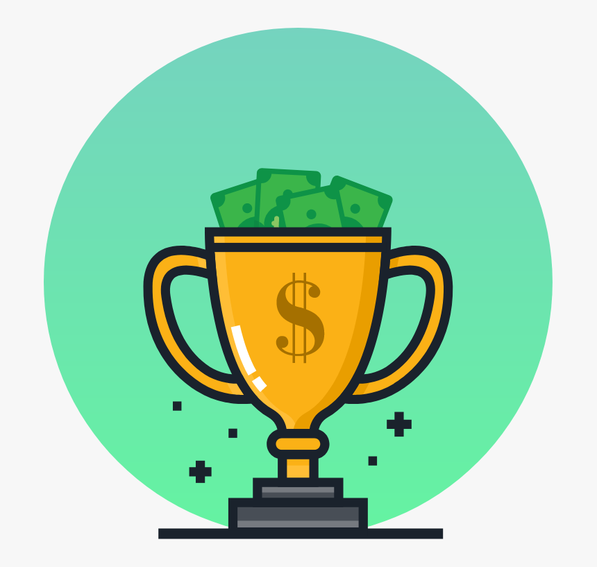 Trophy Icon With Prize Money, HD Png Download, Free Download