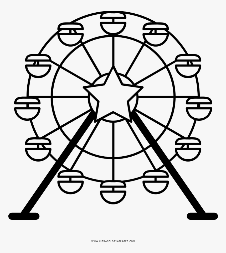 Ferris wheel for coloring book Royalty Free Vector Image | 966x860