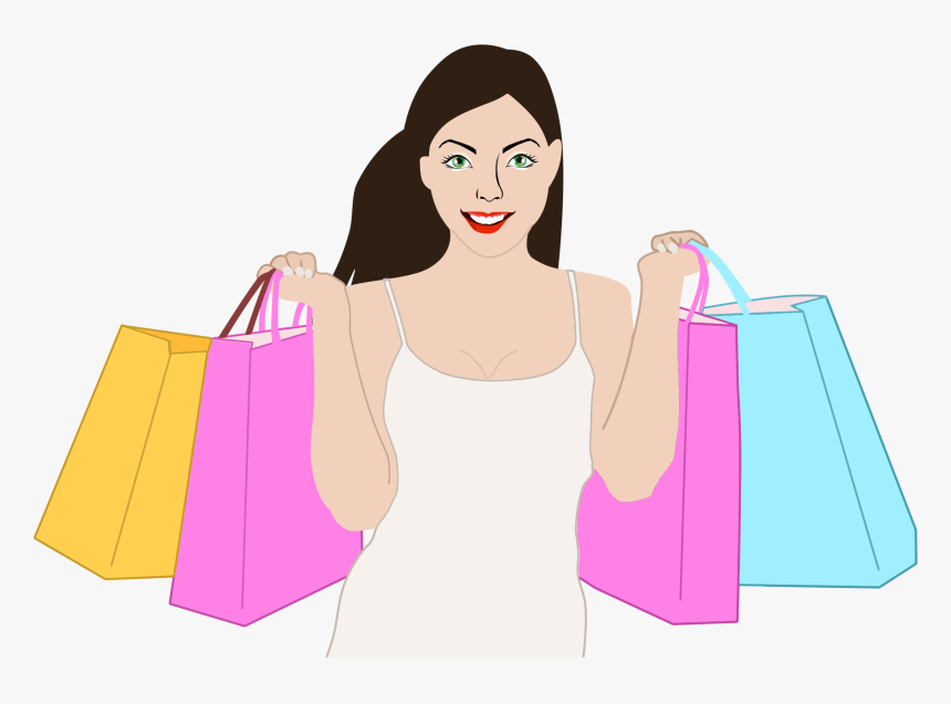 Happy Shopping Woman Clip Arts, HD Png Download, Free Download