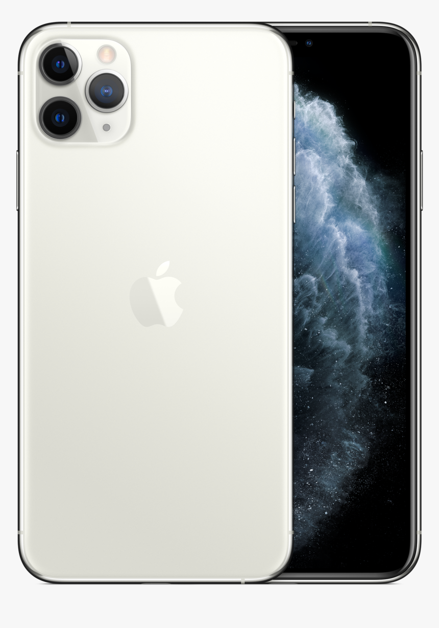 Smartphone Iphone 11 Pro Max Silver Png Image, Transparent Png, Free Download