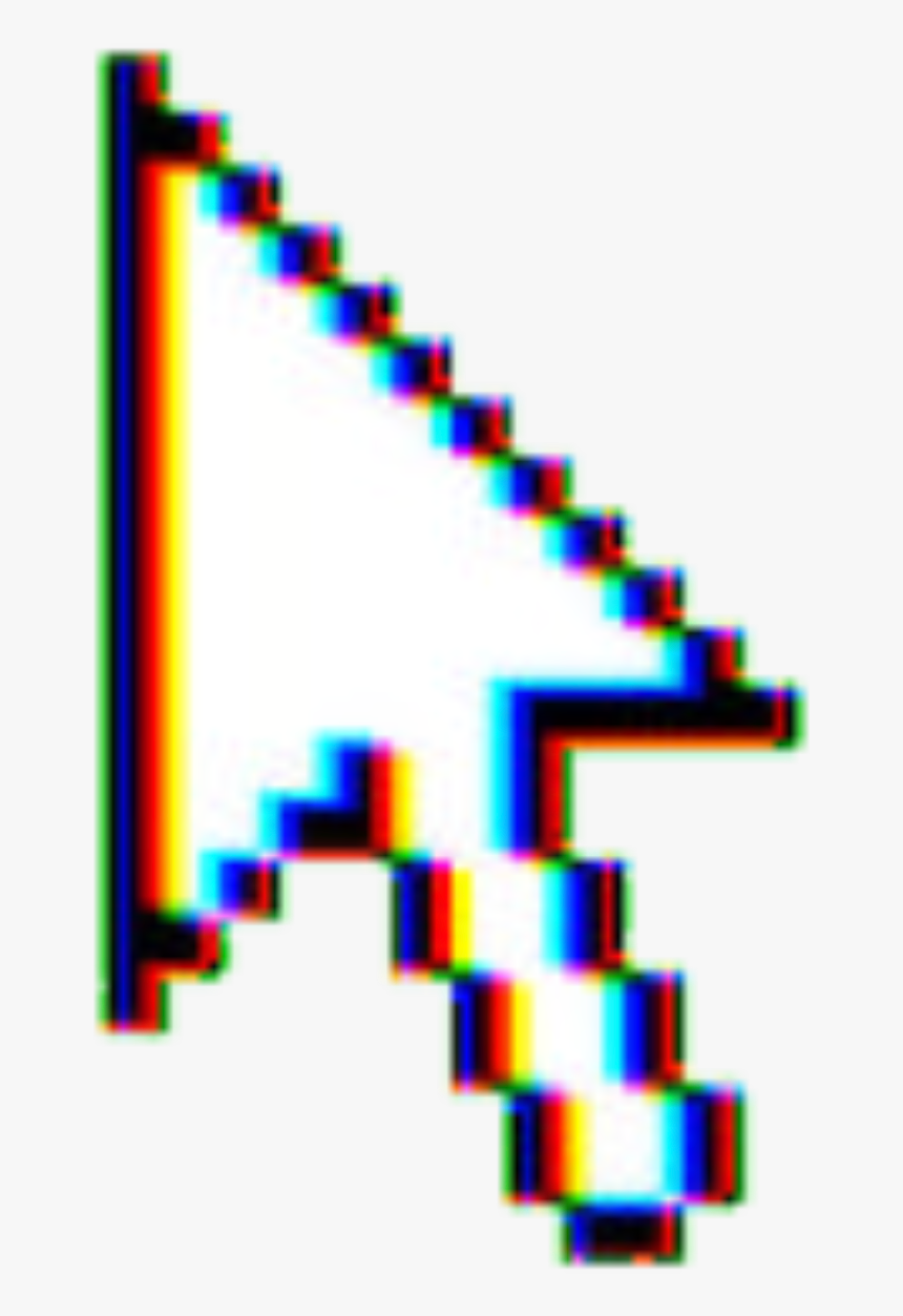 Glitch Aesthetic Tumblr Arrow Sticker Png Transparent, Png Download, Free Download