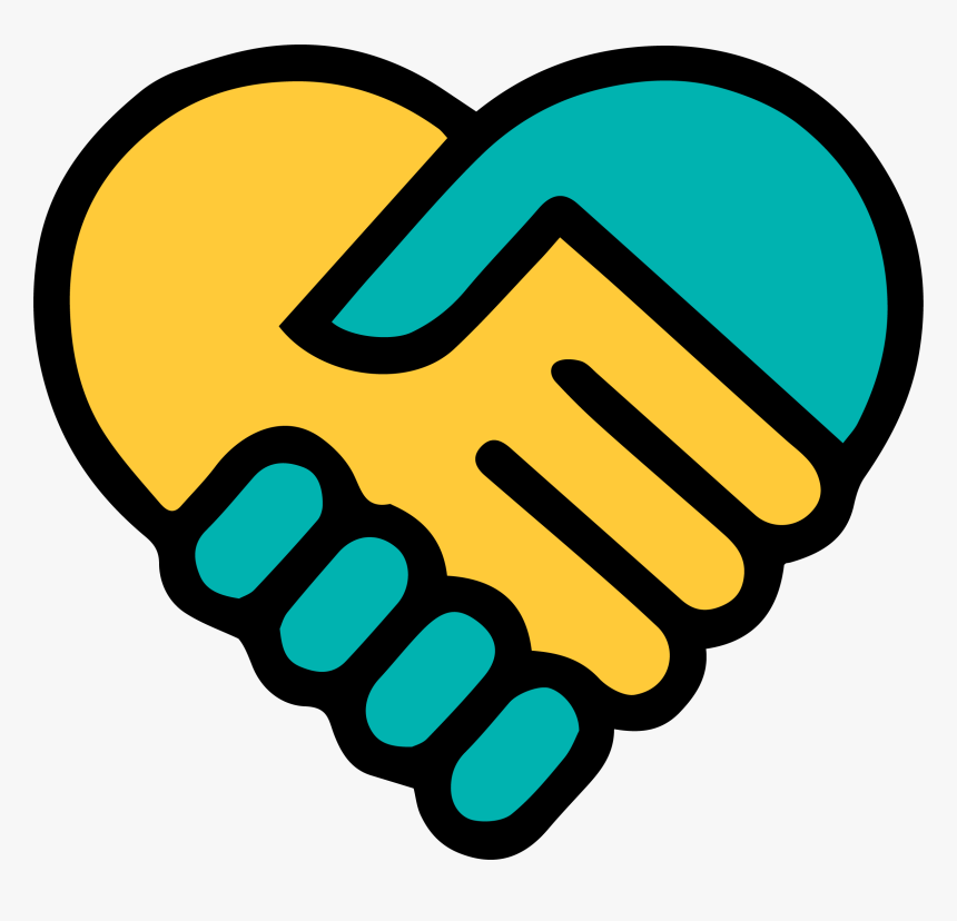 Hands Clipart Hand Holding - Hand In Hand Symbol, HD Png Download, Free Download