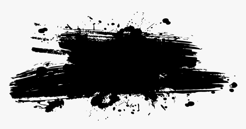black paint png ink splash png , png download - black paint splash png