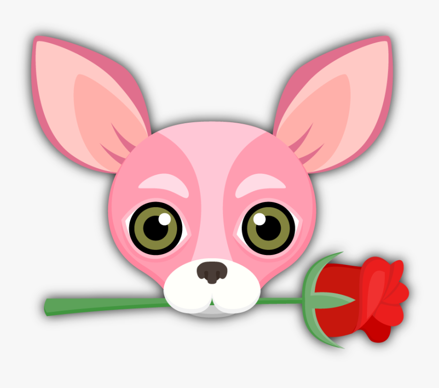 Chihuahua Love, Emoji Stickers, Dog Breeds, Cute Dogs, - Pink Chihuahua Cartoon, HD Png Download, Free Download