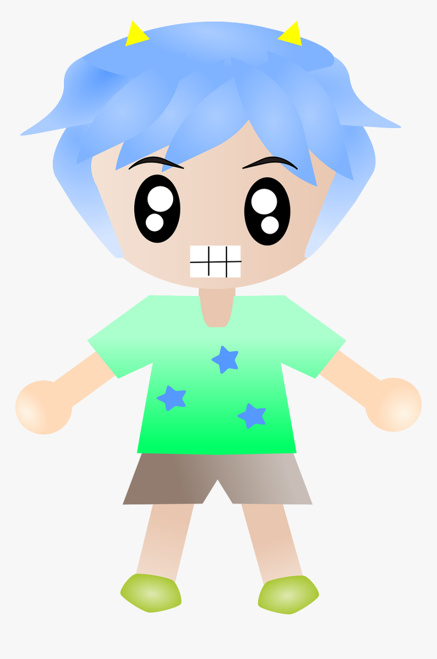 Angry Teenager Cartoon Png, Transparent Png, Free Download