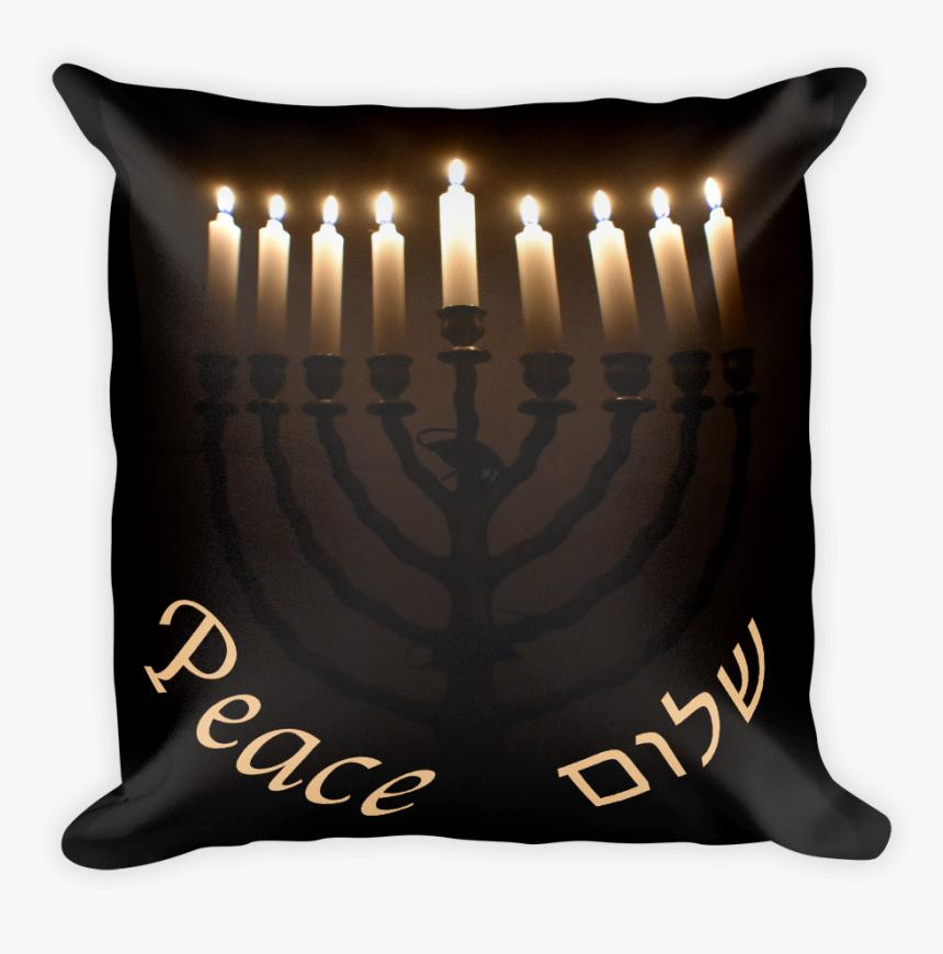 """Menorah Pillow For Hanukkah""""  Data Image Id=""""4257863696429 - Hanukkah, HD Png Download, Free Download"""