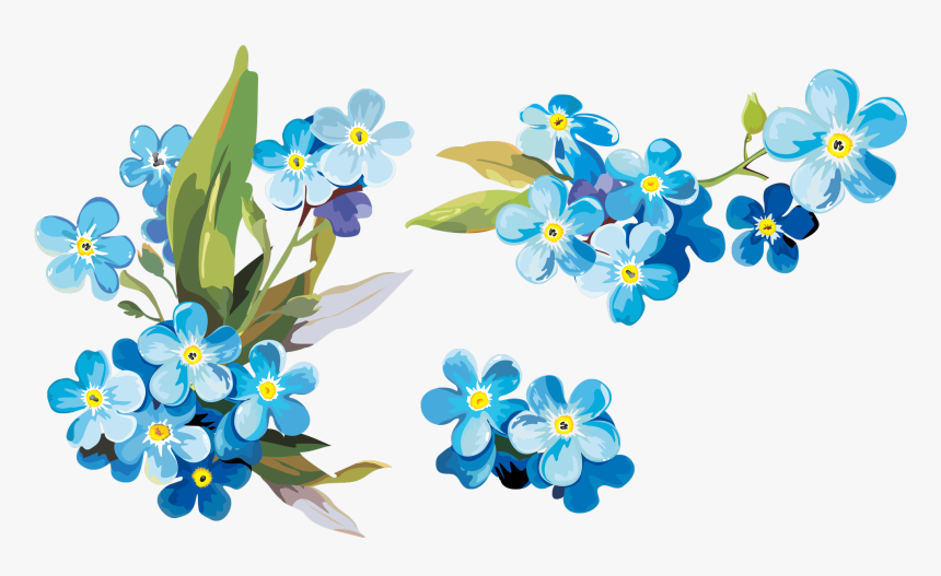 Watercolor Painting Paper Clip Art - Drawing Forget Me Not, HD Png Download, Free Download