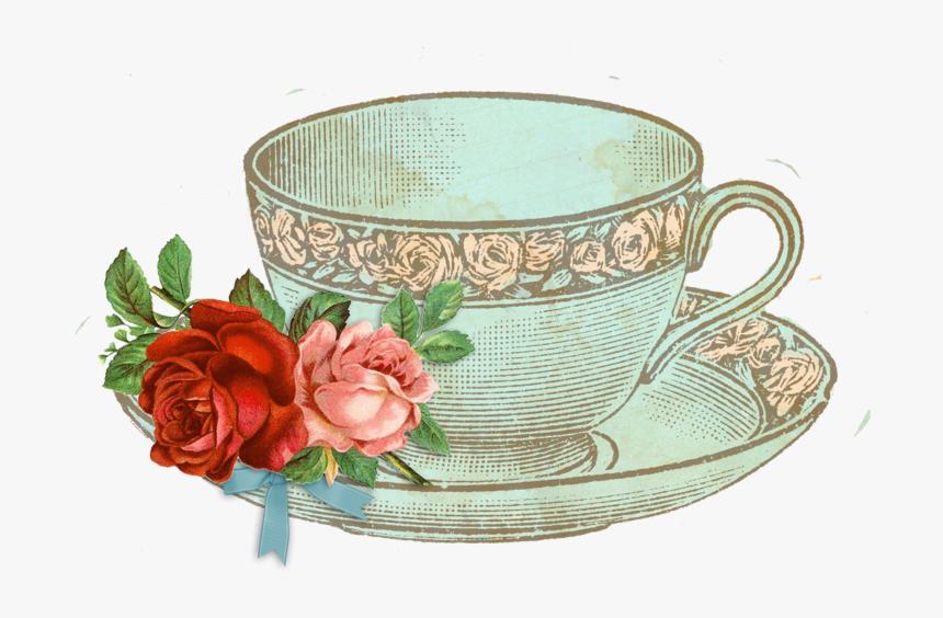 Transparent Vintage Tea Cup Png Vintage Tea Cup Png Png Download Kindpng