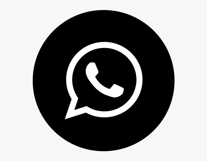 Whatsapp Icono Negro - Whatsapp Icon Vector Png, Transparent Png ...