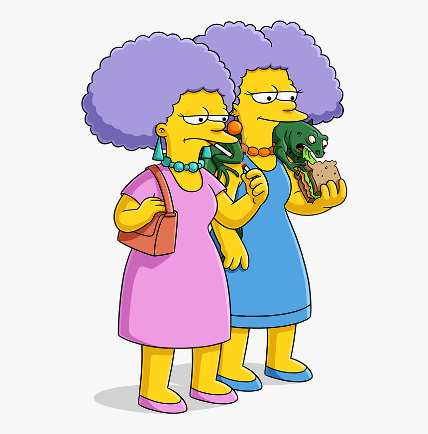 The Simpsons Movie Clipart Homer Simpson Selma Y Patty Simpson Hd Png Download Kindpng