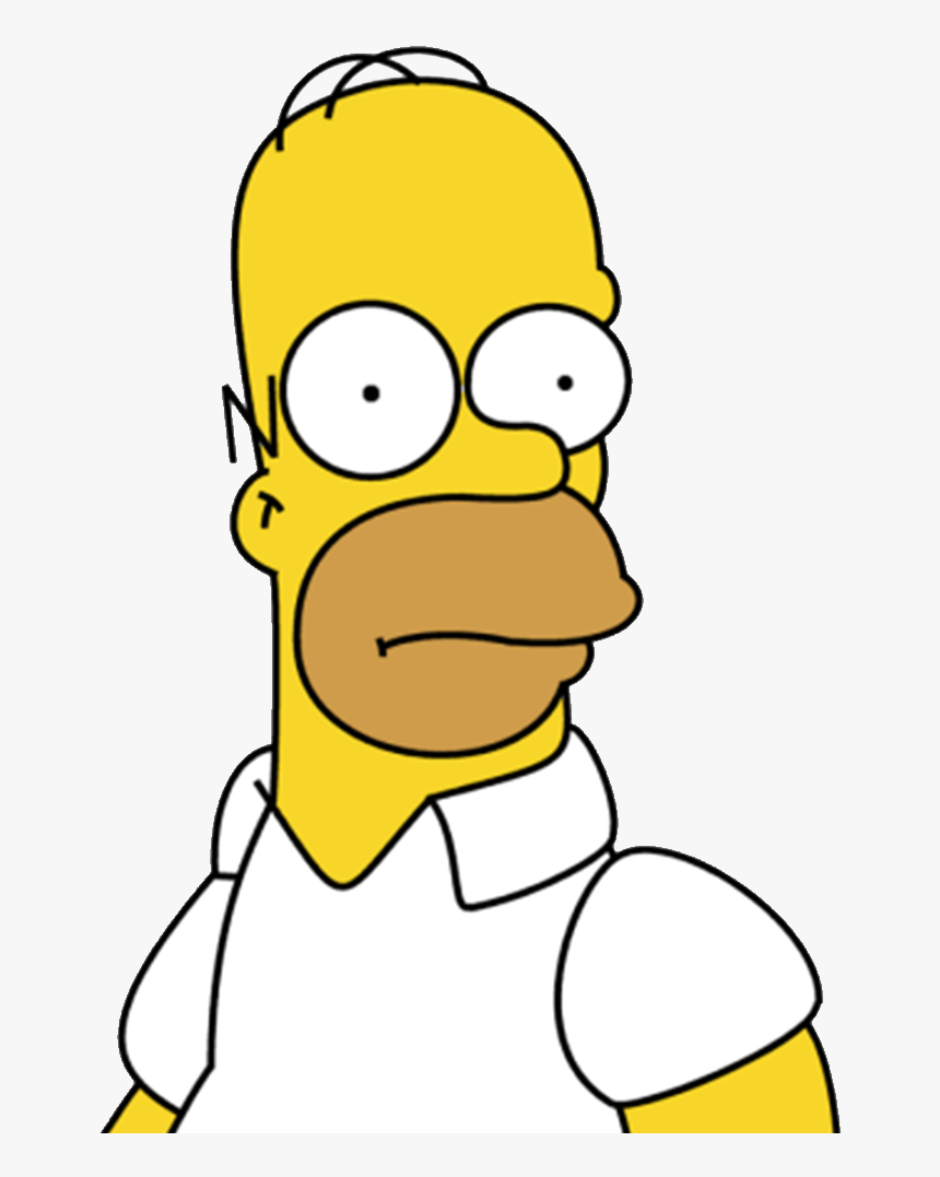 Homer Drawing Simpsons Svg Black And White - Homer Simpson Mouth, HD Png Download, Free Download