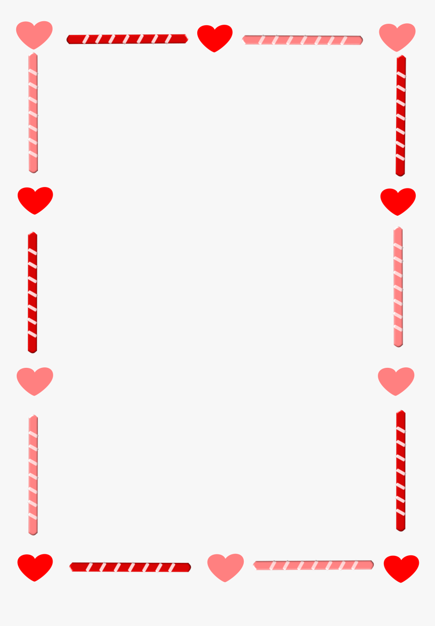 Border Vector Envelope - Valentines Day Border Clip Art, HD Png Download, Free Download