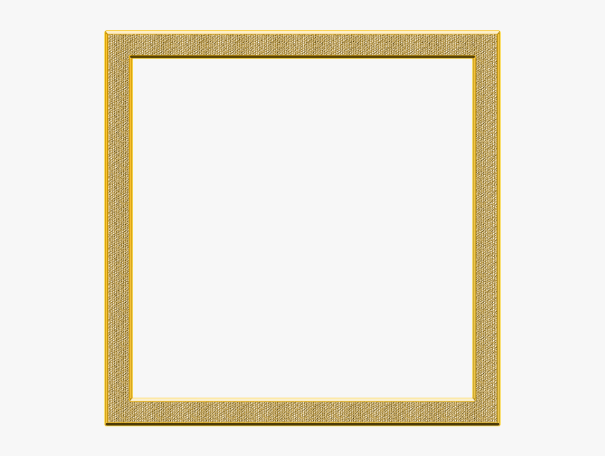 Gold Square Picture Frames, HD Png Download, Free Download