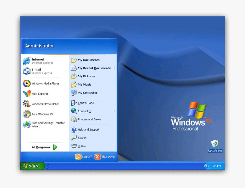 The History Of Windows Start Menu - Windows Xp Start Menü, HD Png Download, Free Download
