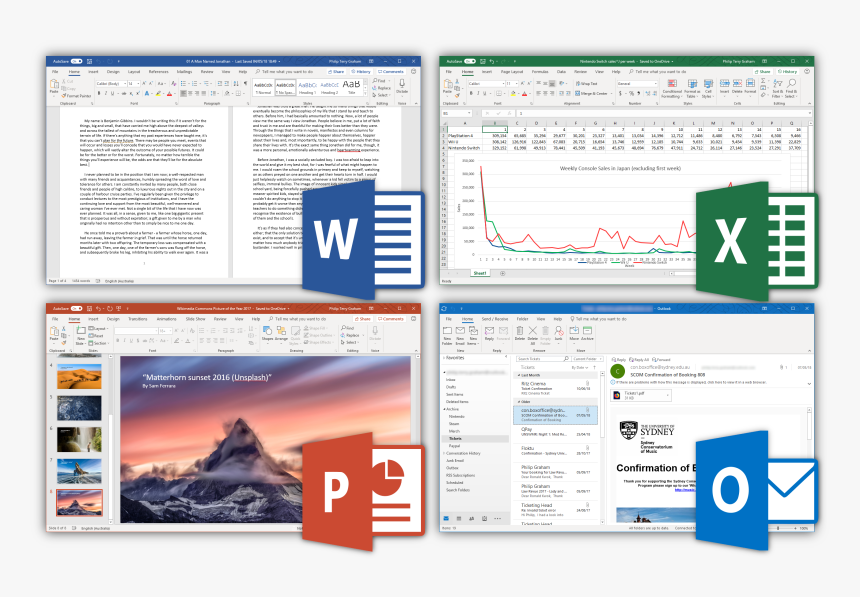 Microsoft Office 365 Desktop Applications, From Top - Microsoft Office Pro Plus 2019, HD Png Download, Free Download