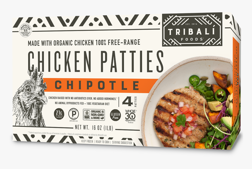 Tribali Chipotle Chicken Patties, HD Png Download, Free Download