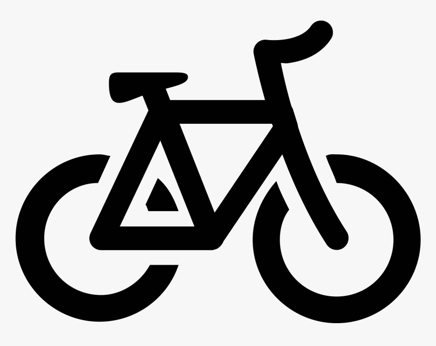 Transparent Bicycle Clipart Black And White Bicycle Icon Vector Png Png Download Kindpng
