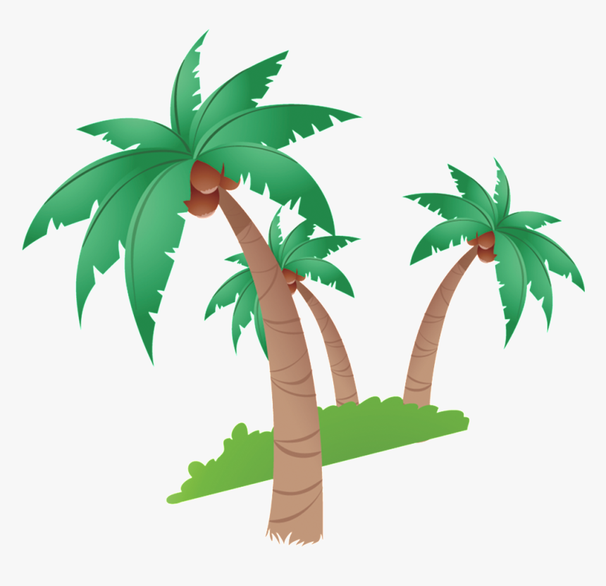 Coconut Tree Cartoon Beautiful Illustration - Coconut Tree Clip Art, HD Png Download, Free Download