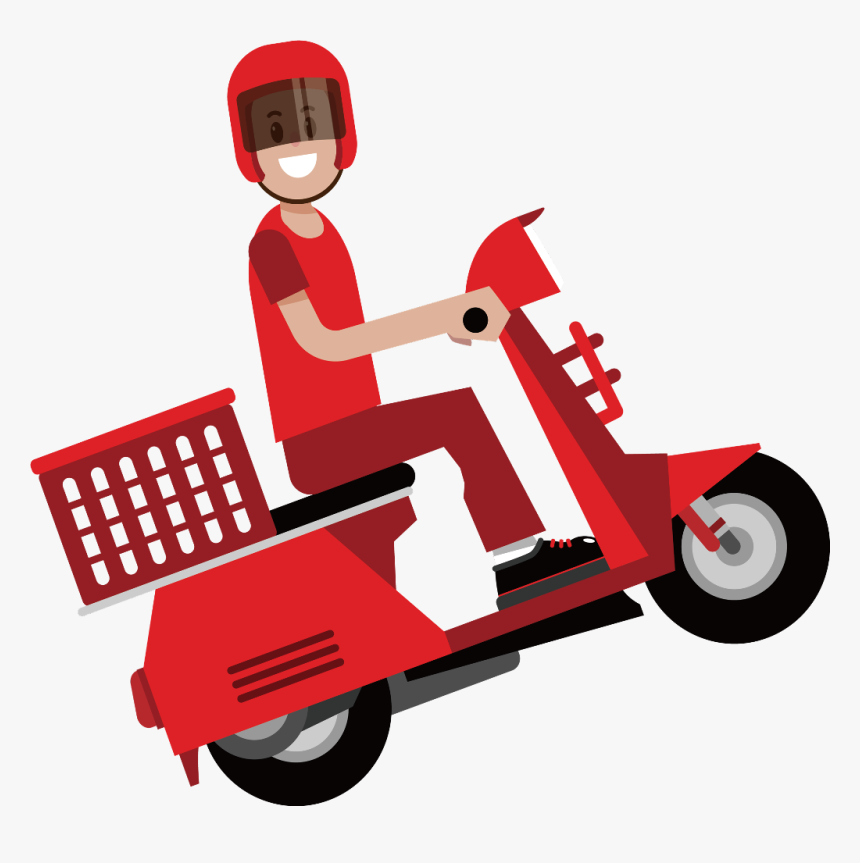 Transparent Scooter Clipart - Motorcycle Delivery Icon Png, Png Download, Free Download