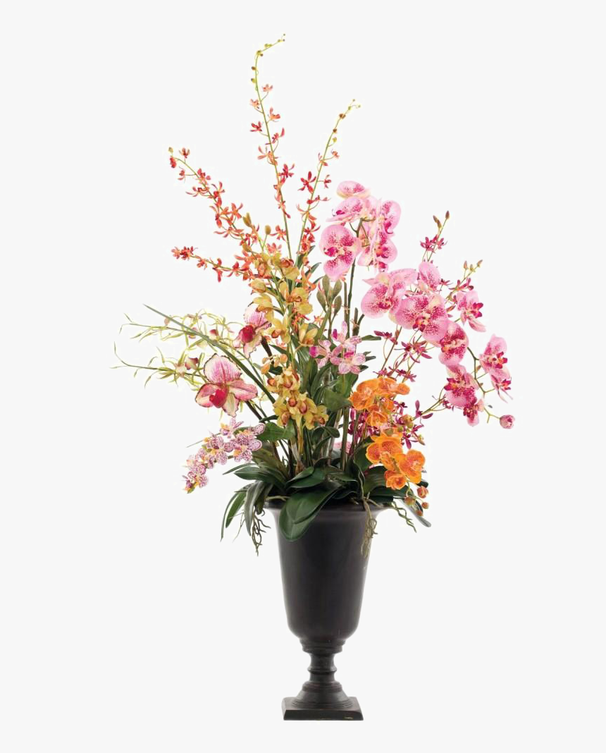 Flower Vase Background Png - Flowers In A Vase Png, Transparent Png, Free Download
