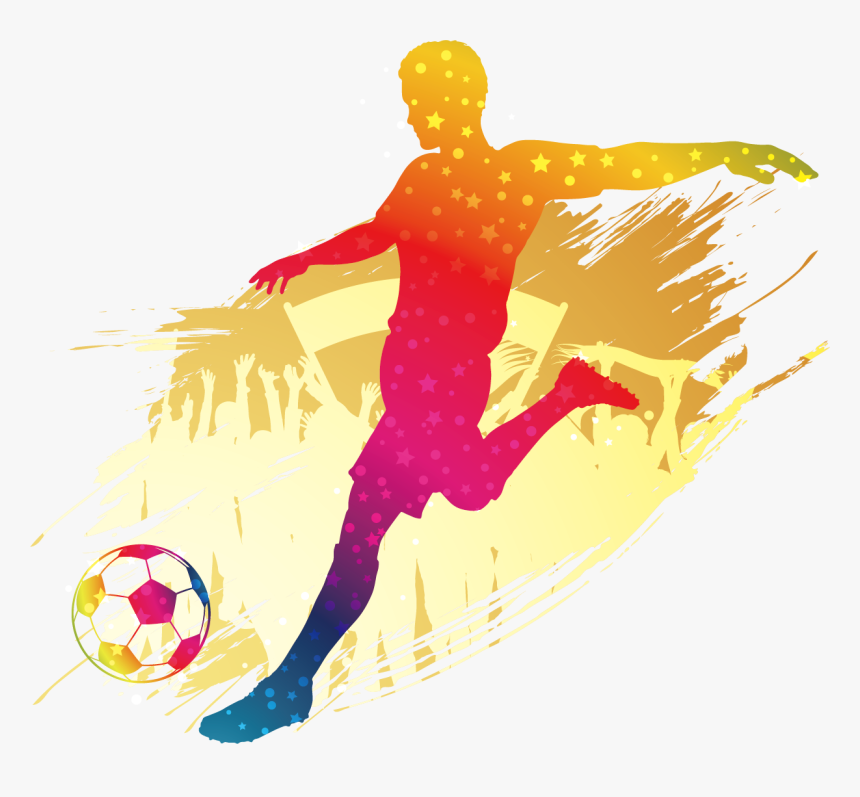 Transparent Kickball Png - Silhouette Soccer Clipart, Png Download, Free Download