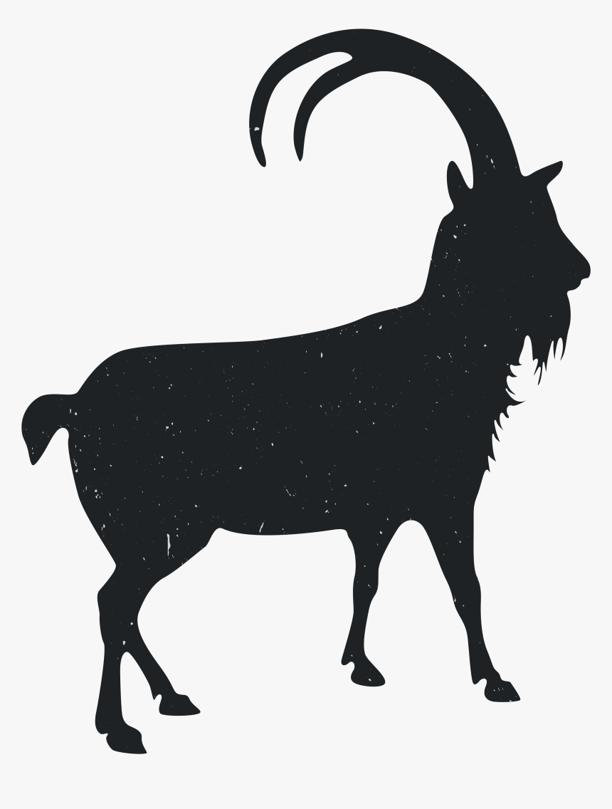 Clip Art Black And White Animal - Transparent Goat Silhouette Png, Png Download, Free Download