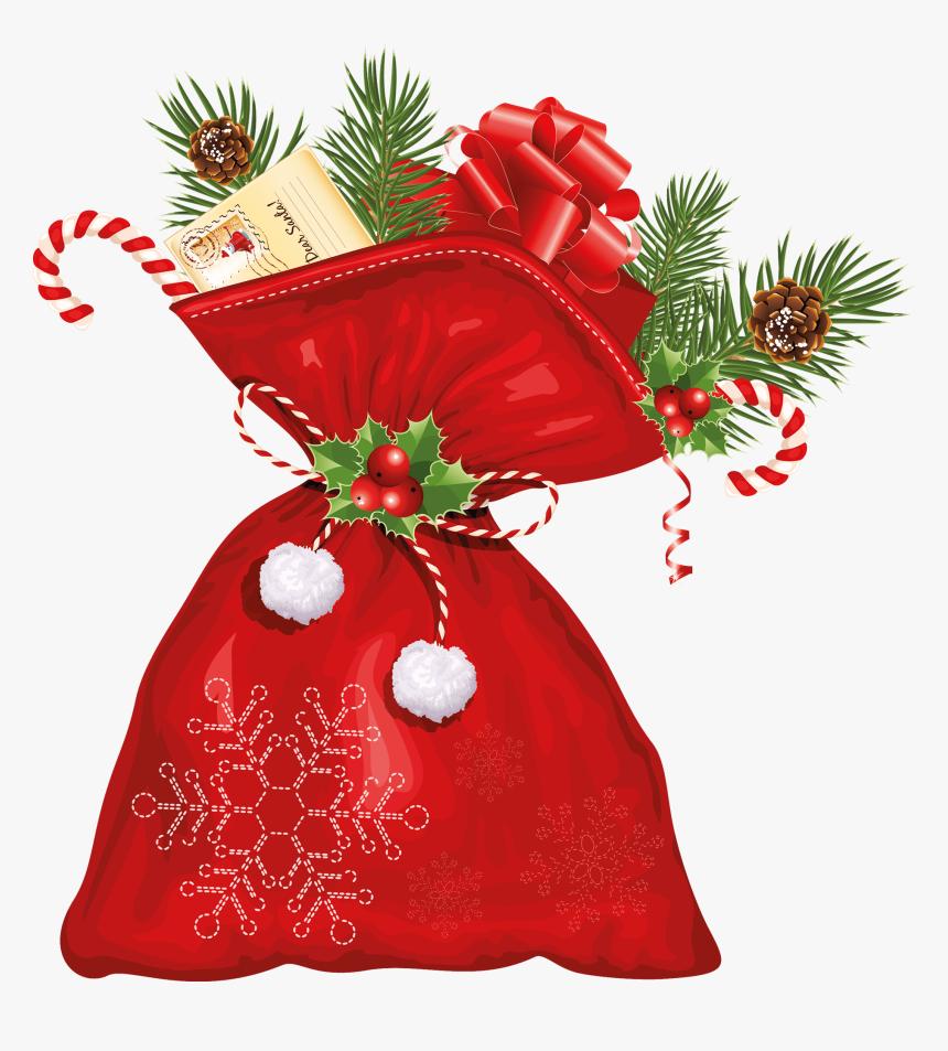Christmas Santa Sack - Santa Claus Bag Png, Transparent Png, Free Download