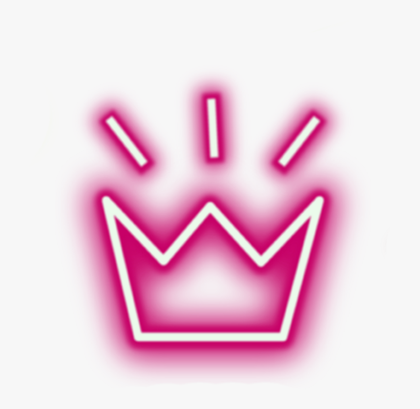 Crown Neon Lights Tumblr Aesthetic Crowns - Neon Crown Png, Transparent Png, Free Download