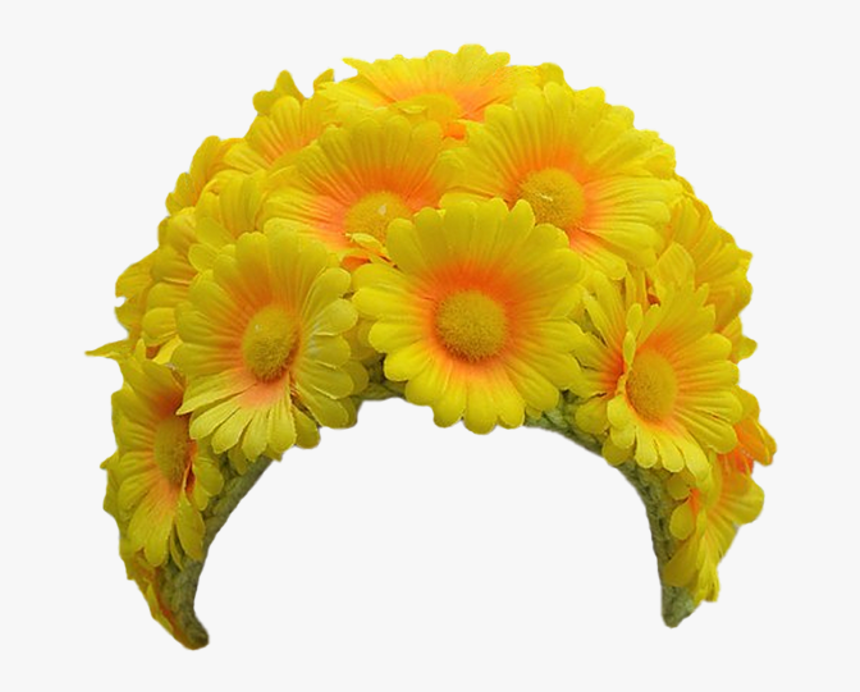 Daisy Marigold Head Crown Hair Band Bloom Flower Border - Flower Hair Band Png, Transparent Png, Free Download