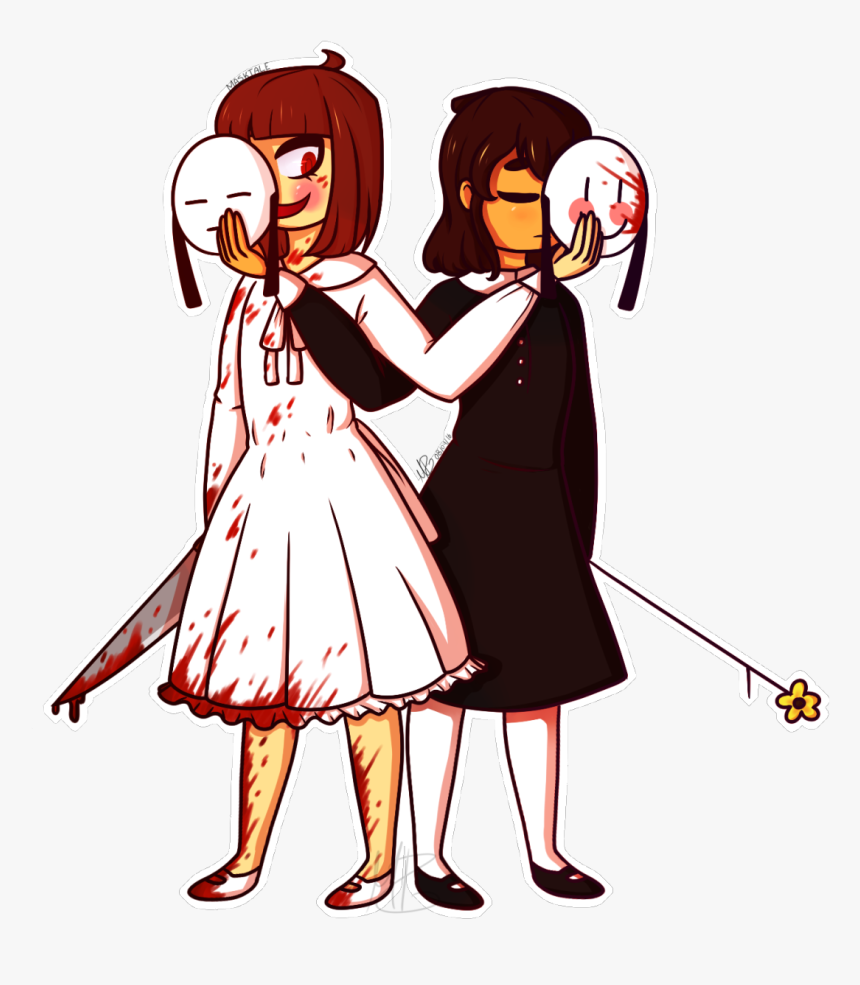 Undertale Clothing Woman Cartoon Vertebrate Fictional - Frisk And Chara Mask, HD Png Download, Free Download