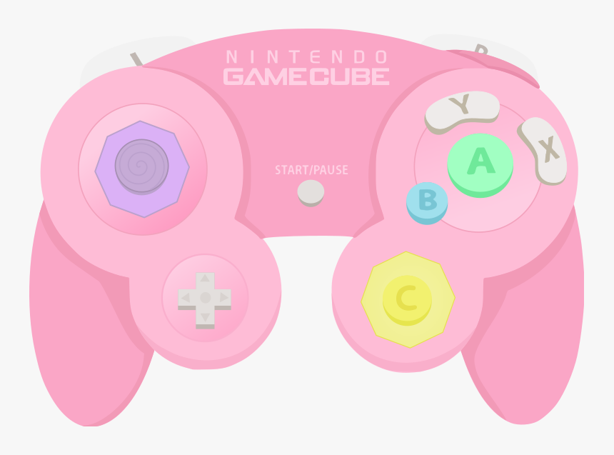 Nintendo Gamecube - Pastel Pink Transparent Controller, HD Png Download, Free Download